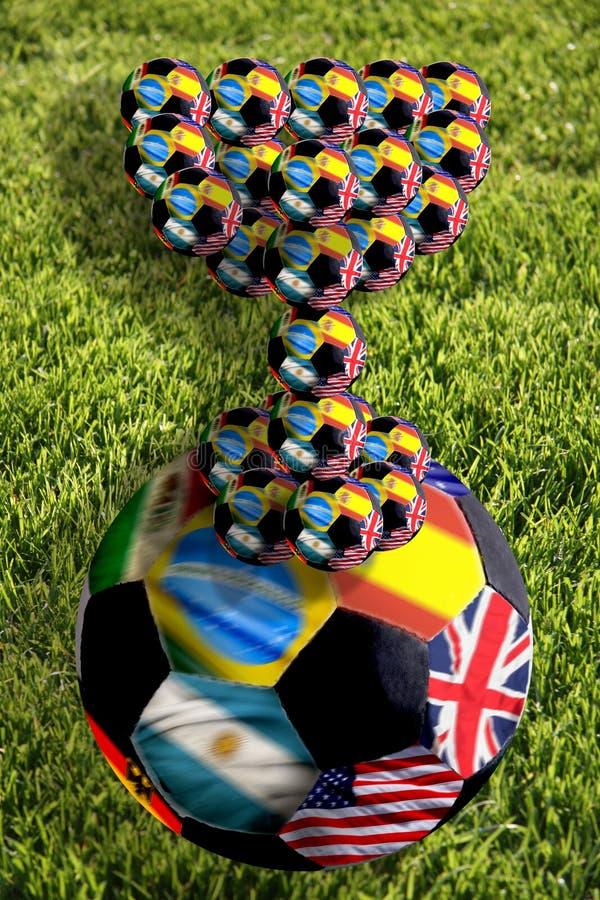Bille de football avec la cuvette, Afrique du Sud, 2010 images stock