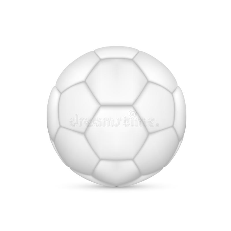 Bille de football blanche illustration stock
