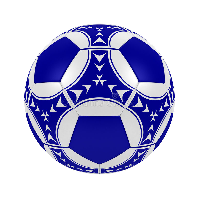 Bille De Football Bleue Image libre de droits