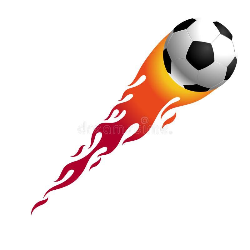 Bille de football chaude illustration de vecteur