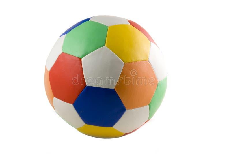 Bille de football colorée d'isolement photo libre de droits
