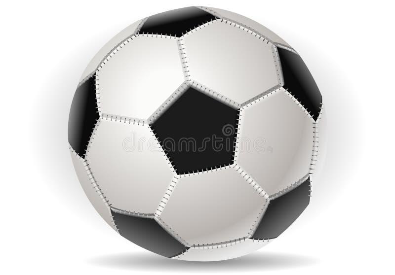 Bille de football d'isolement en fonction avec illustration libre de droits