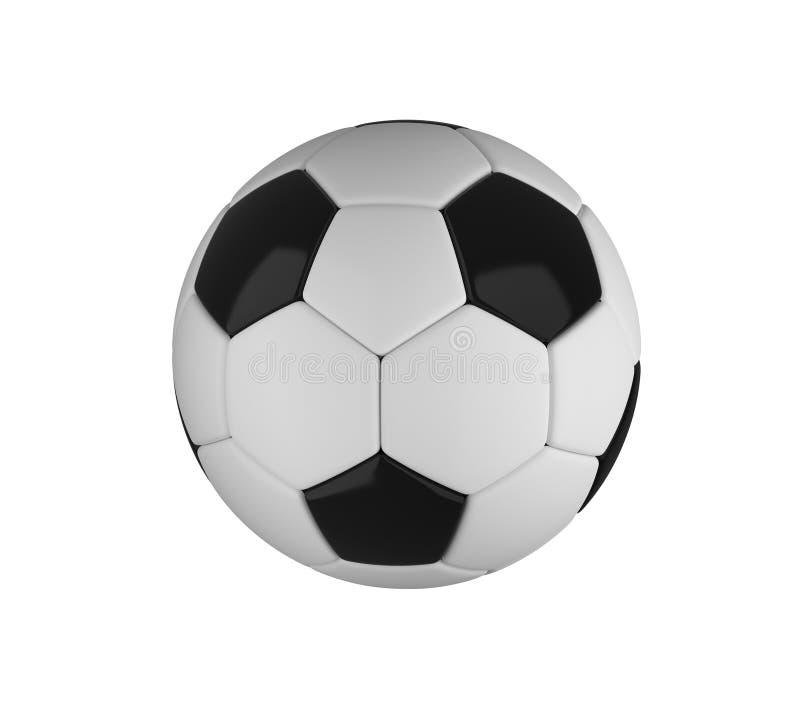 Bille de football d'isolement sur le fond blanc illustration 3D illustration de vecteur