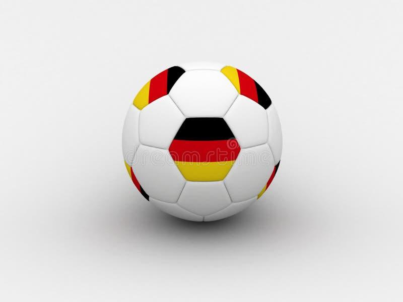 Bille de football de l'Allemagne illustration de vecteur