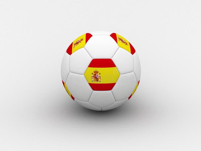 Bille de football de l'Espagne illustration de vecteur