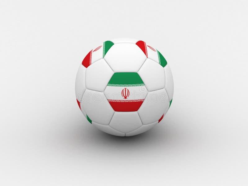 Download Bille De Football De L'Iran Illustration Stock - Illustration du concurrence, iran: 741222