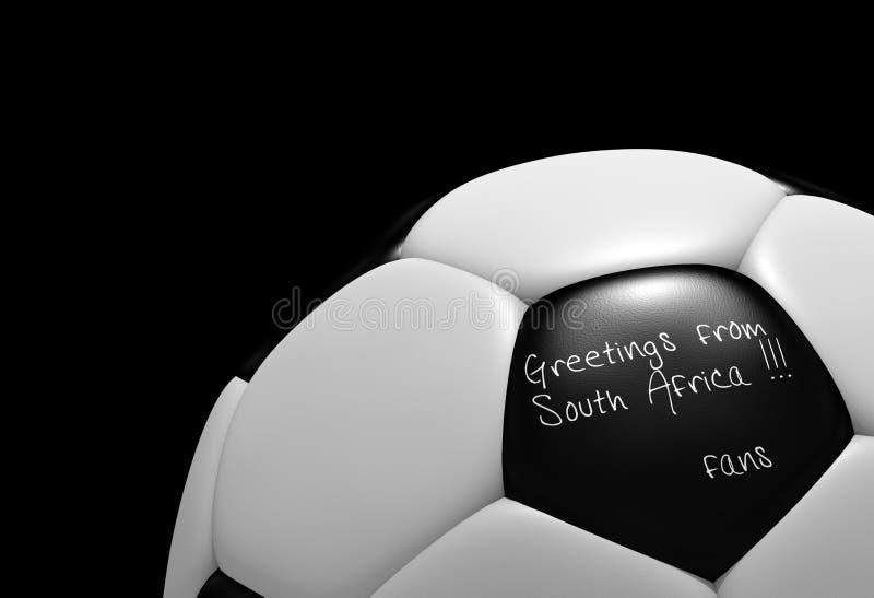 Bille de football de la coupe du monde de l'Afrique du Sud 2010 illustration de vecteur
