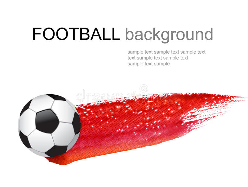 Bille de football et brouillon de peinture photographie stock libre de droits