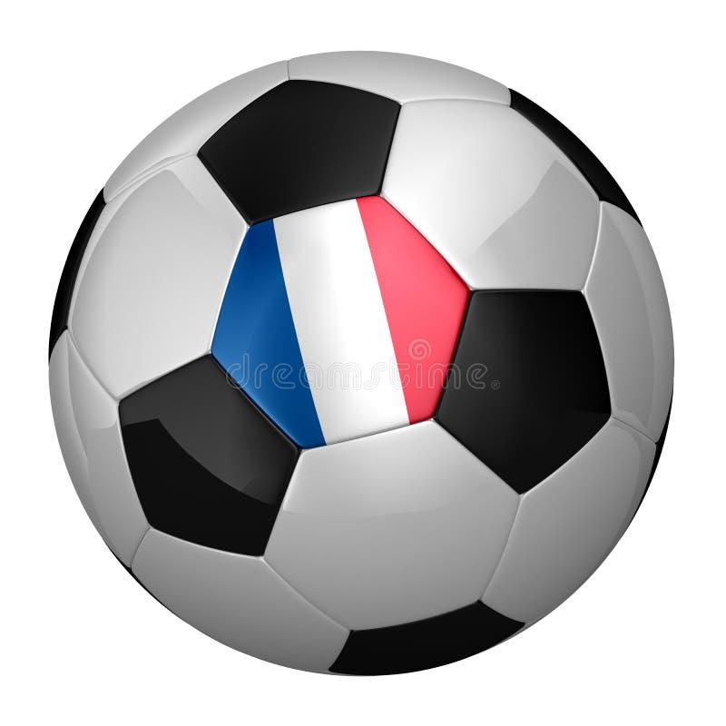 Bille de football française illustration de vecteur
