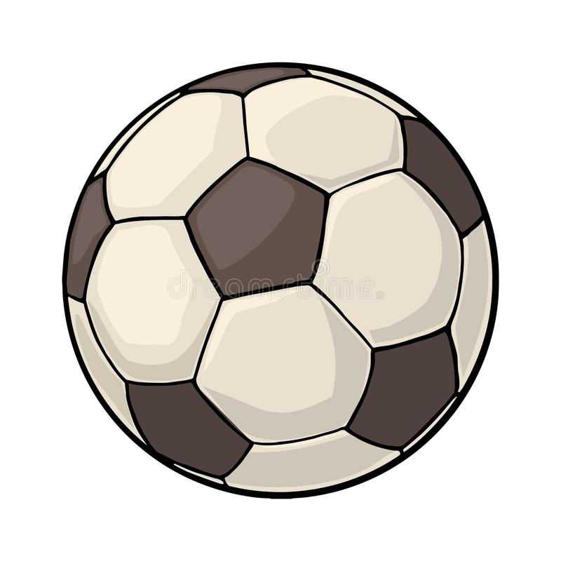 Bille de football Illustration de couleur de vecteur de vintage D'isolement sur le fond blanc illustration libre de droits