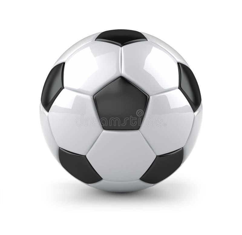 Bille de football lustrée illustration de vecteur