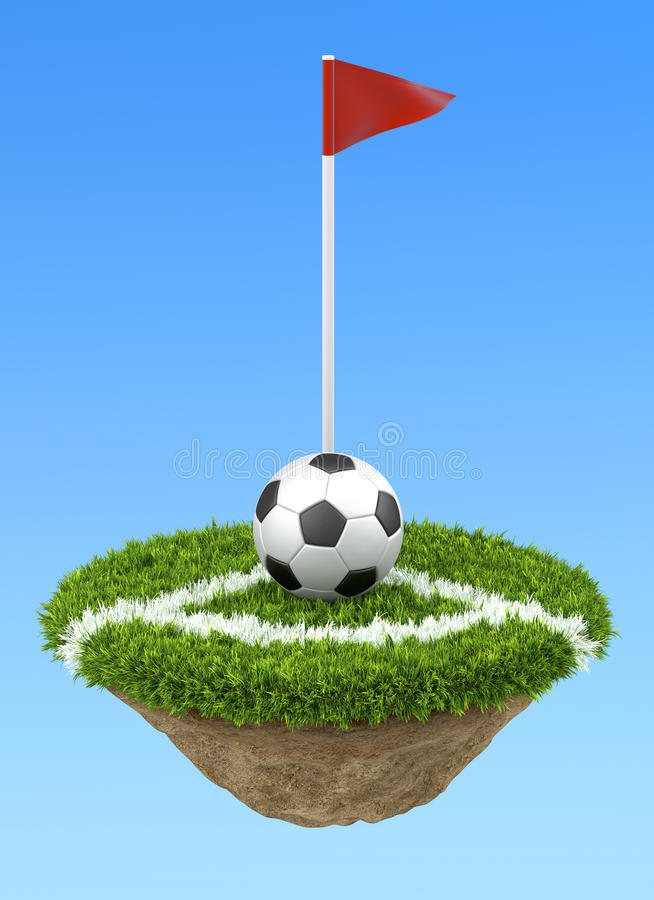 Bille de football sur le coin illustration libre de droits