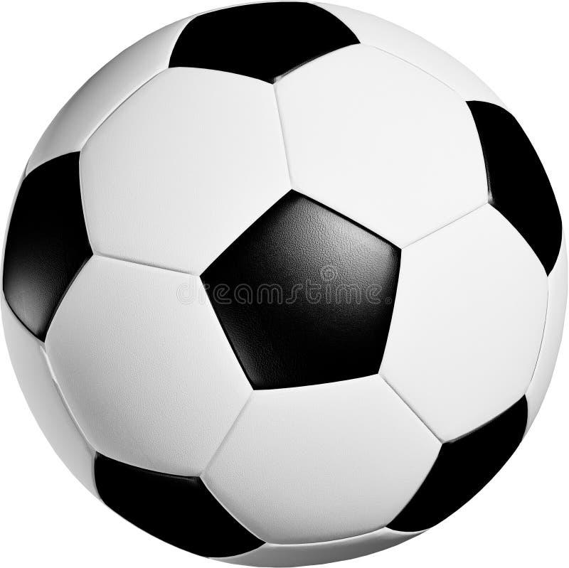 Bille de football sur le fond blanc illustration libre de droits