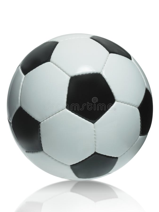 Bille de football sur le fond blanc images stock
