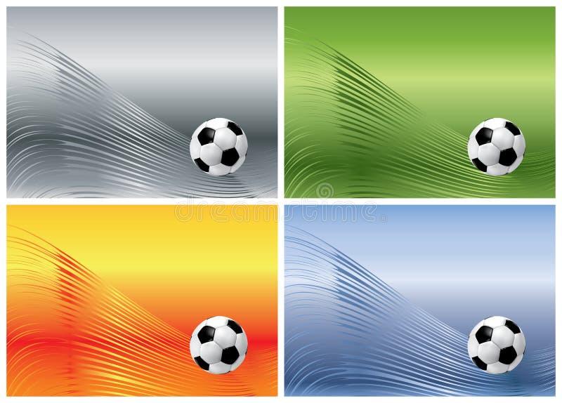 Bille de football sur les milieux abstraits illustration de vecteur
