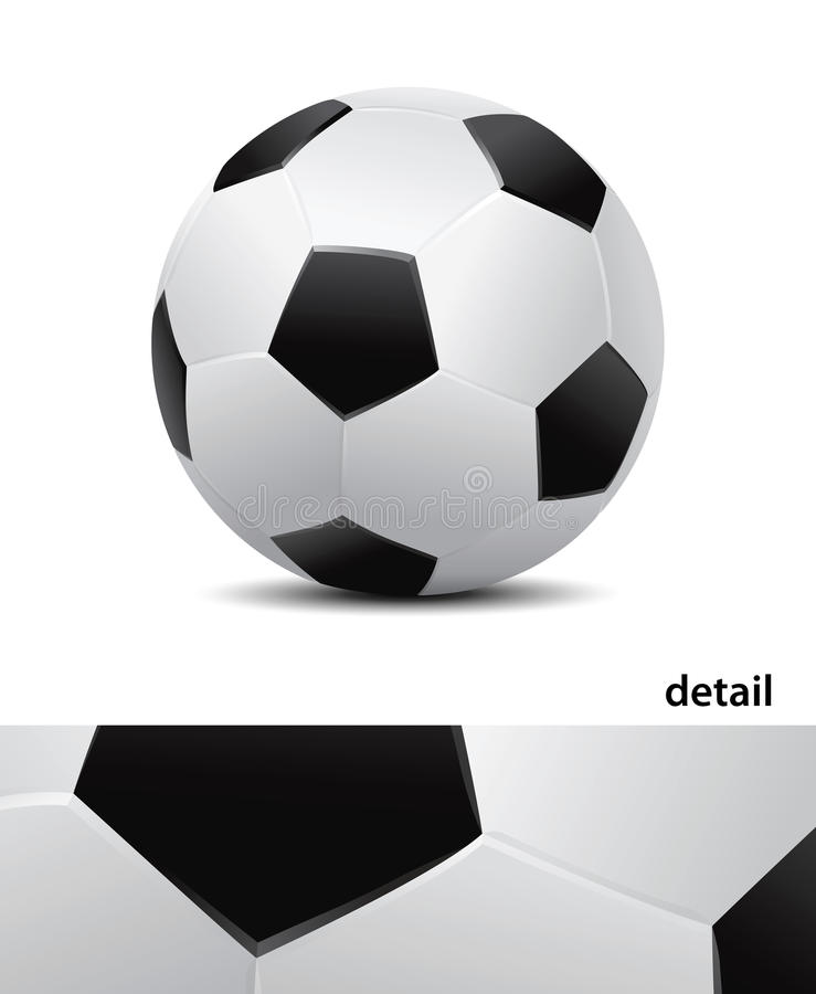 Bille de football (vecteur) illustration stock