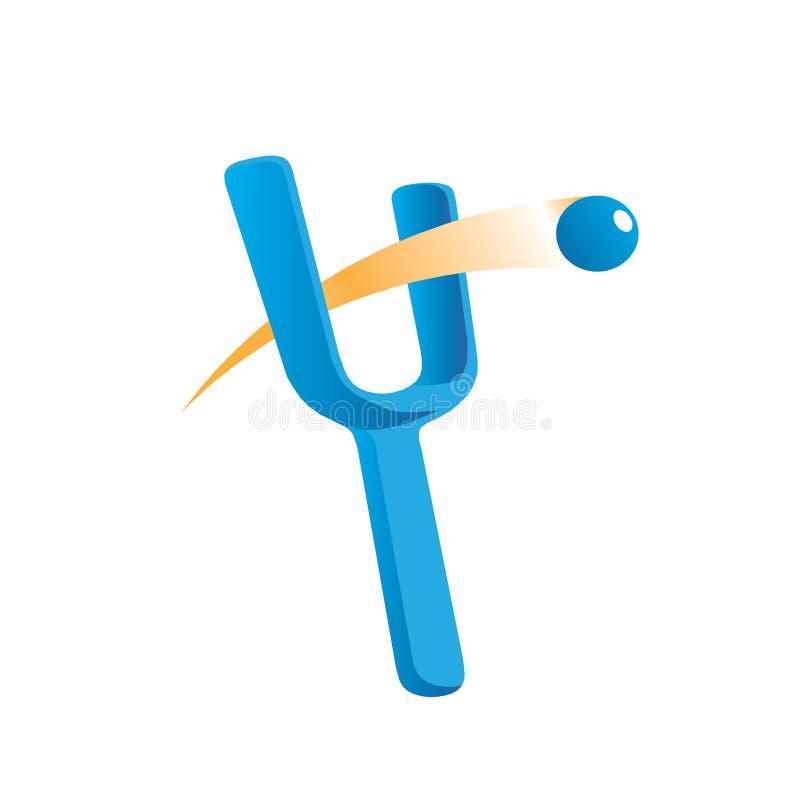 Bille de fronde de logo illustration libre de droits
