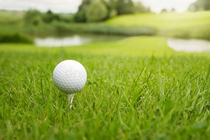 Bille de golf au cours photo libre de droits