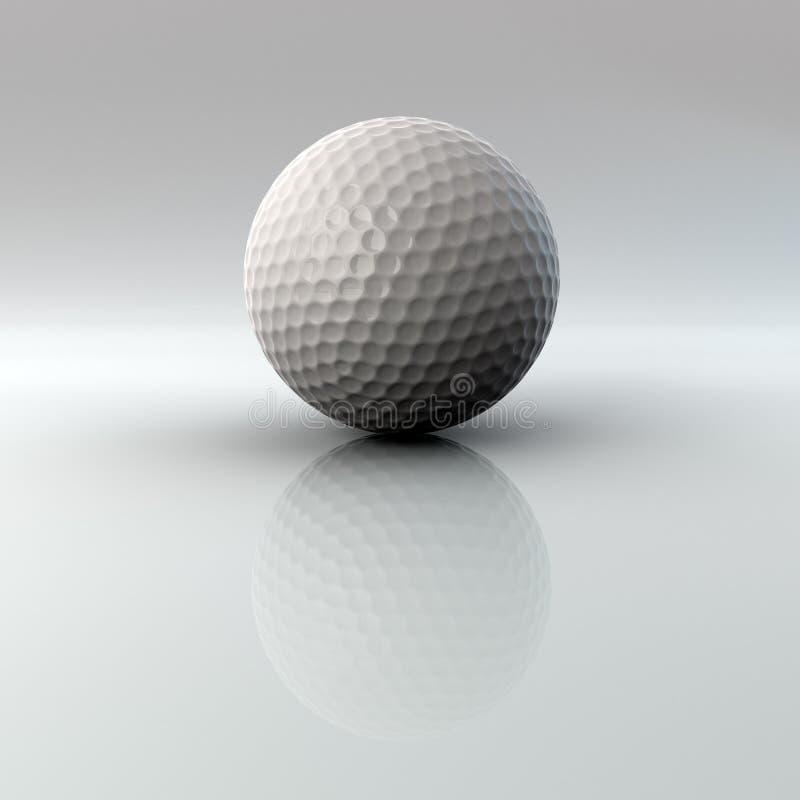 Bille de golf avec la réflexion et l'alpha illustration stock
