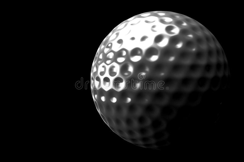 bille de golf 3d image libre de droits
