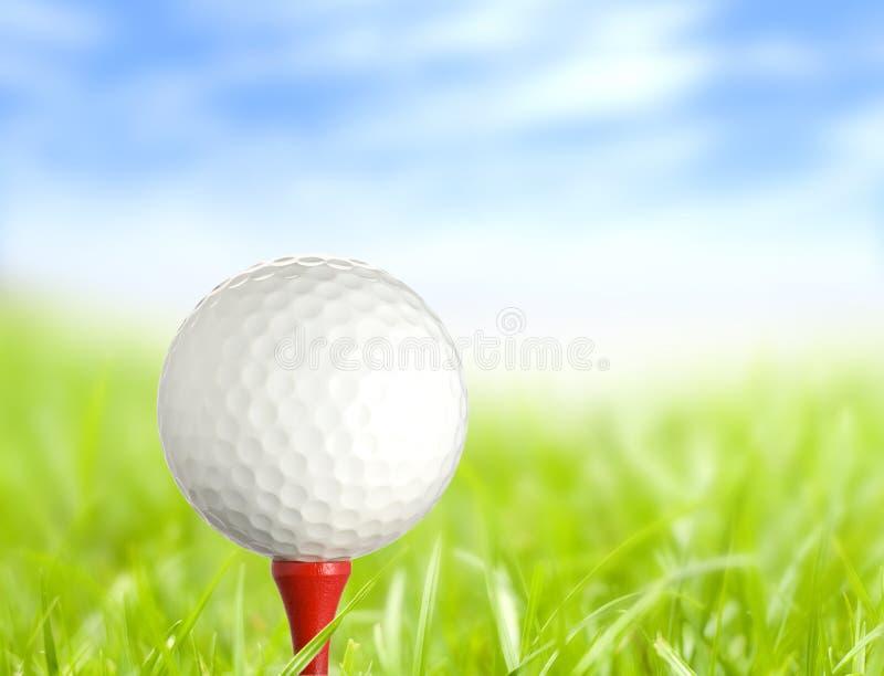 Bille de golf prête image stock