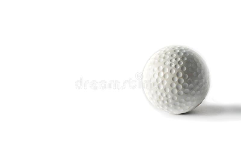 Bille de golf sur le fond blanc images stock