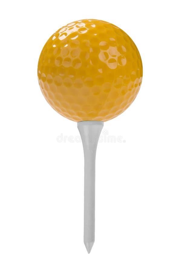 Bille de golf sur le té image libre de droits