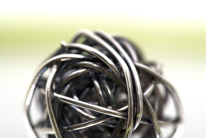 Bille de griffonnage en métal photographie stock libre de droits