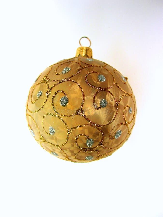Bille de Noël d'or photo stock
