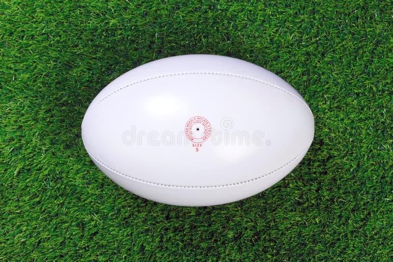 Bille de rugby sur l'herbe photo libre de droits
