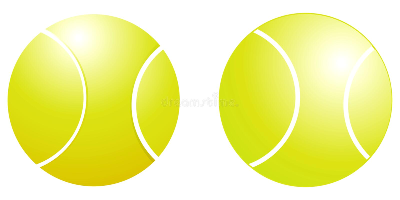 Bille de tennis illustration stock