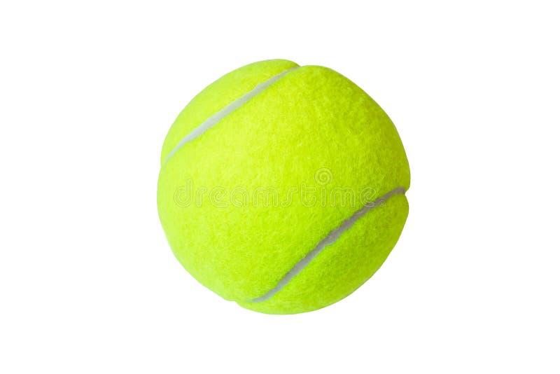 Bille de tennis d'isolement sur le fond blanc marco images stock
