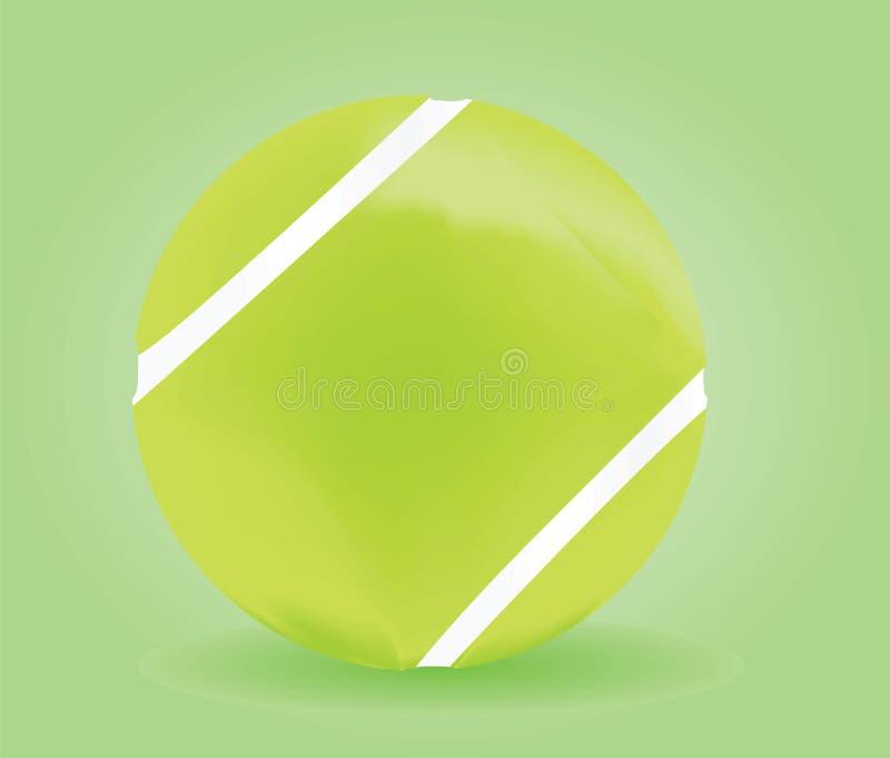 Bille de tennis sur le fond vert illustration de vecteur