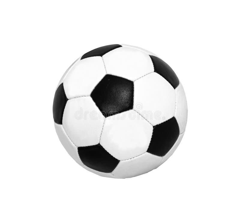 Bille du football (le football) d'isolement image stock