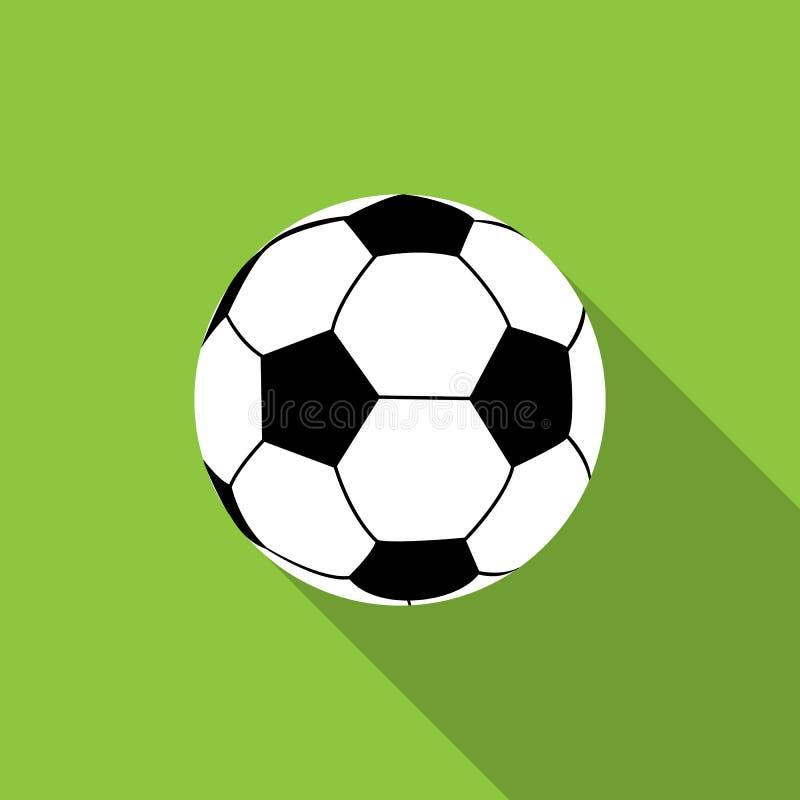 Bille du football sur le fond vert illustration stock