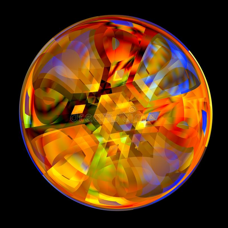 Bille en cristal colorée illustration stock