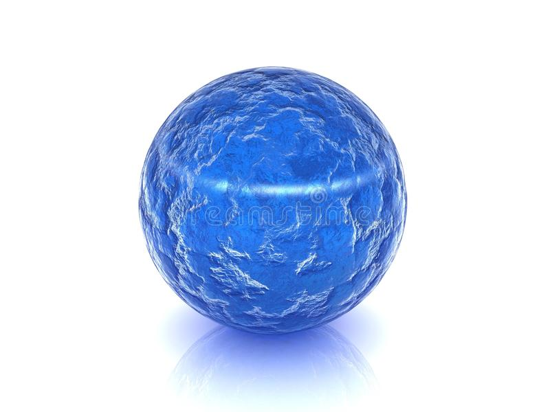 Bille en verre bleue illustration libre de droits