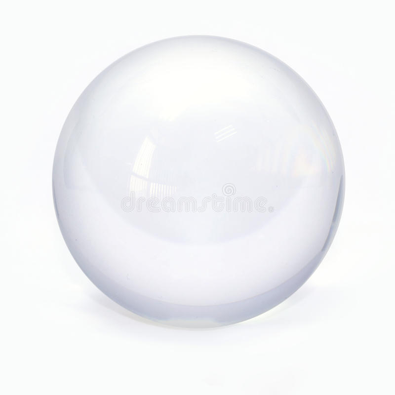 Bille en verre de sphère photo stock