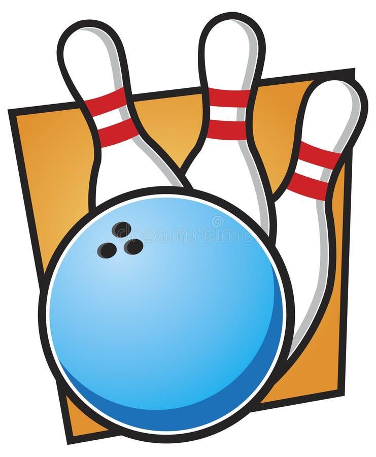 Bille et broches de bowling illustration libre de droits