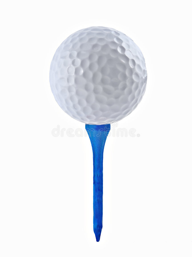 Bille et té de golf photos stock