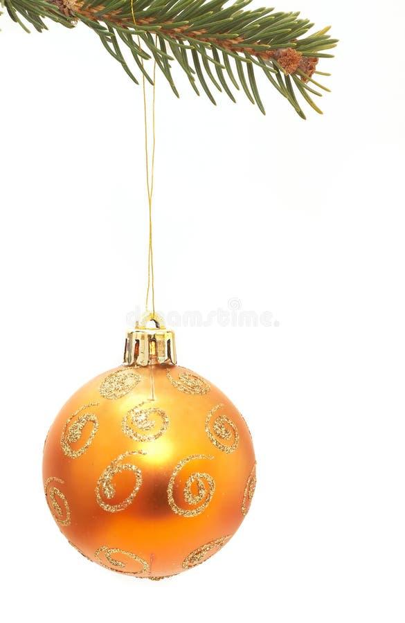 bille orange de Noël images libres de droits