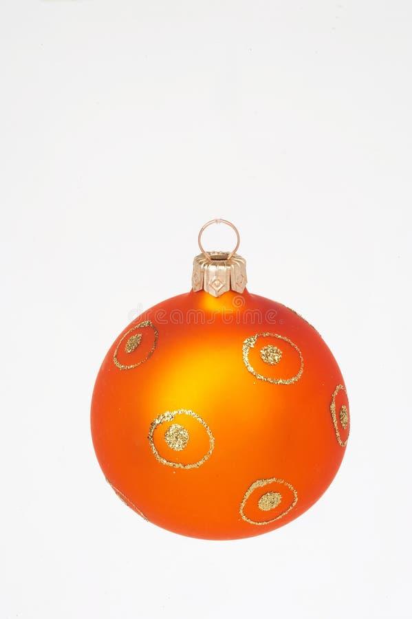 Bille orange de Noël - weihnachtskugel orange photos stock