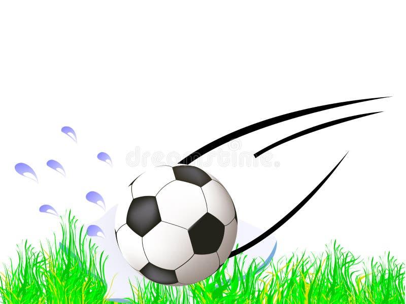 bille pilotant vers le bas le football illustration de vecteur