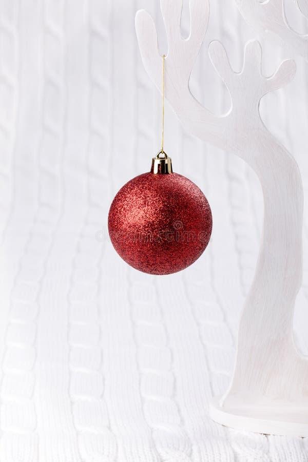 Bille rouge de Noël photo stock