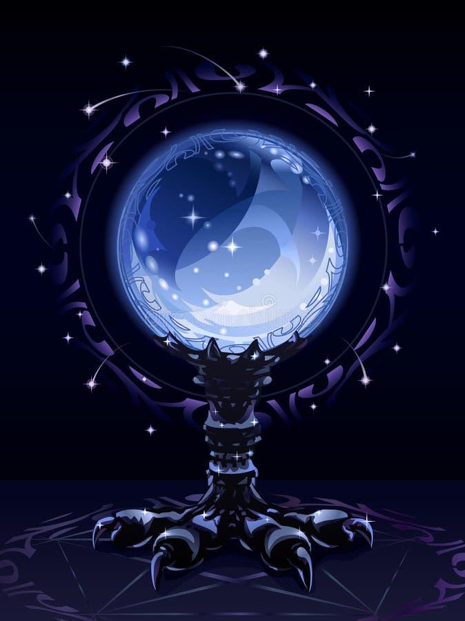 Bille scrying en cristal illustration stock