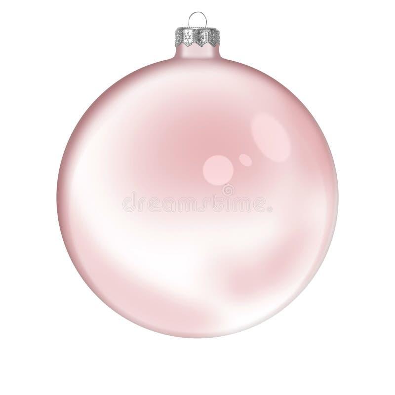 Bille transparente en verre rouge de Noël photo libre de droits