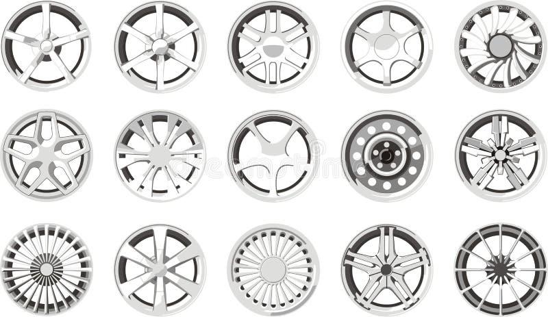 Billegeringshjul royaltyfri illustrationer