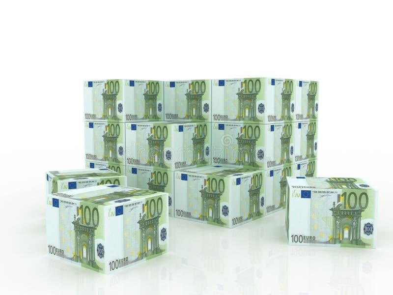 billen boxes europengarstapeln vektor illustrationer