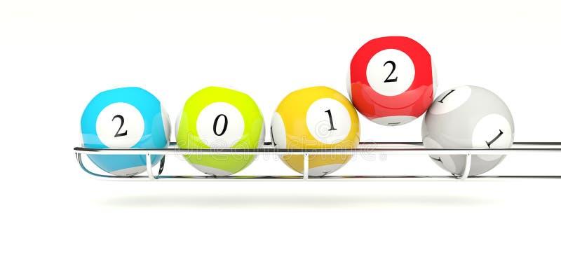 billes 2012 de loterie illustration stock