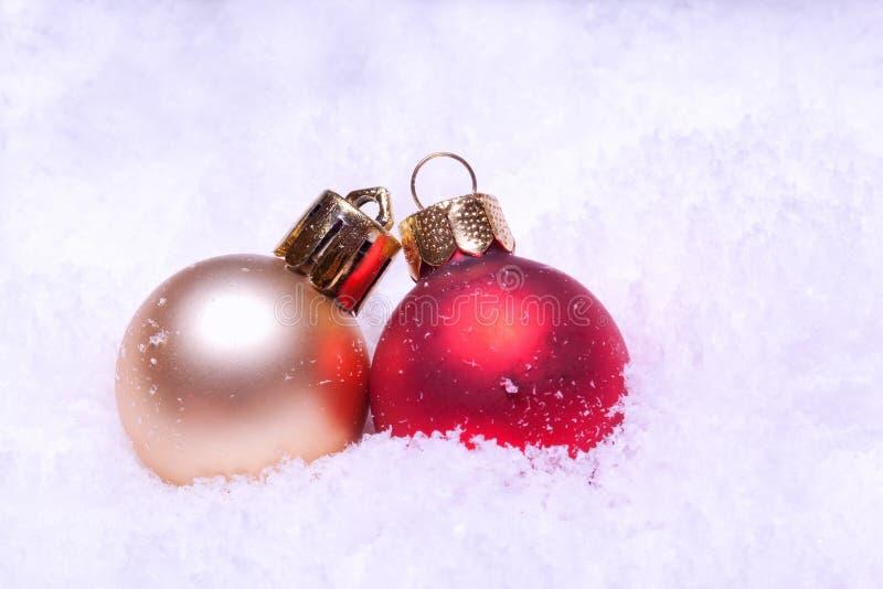 Billes colorées brillantes de Noël photo libre de droits